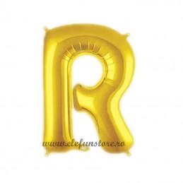 "Balon "" Litera R "" Shiny Gold Slim"