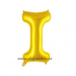 """Balon """" Litera I """" Shiny Gold Slim"""