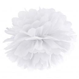 Floare Pom Pom Alba 25 cm