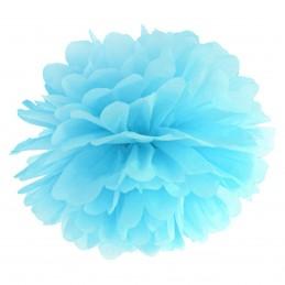 Floare Pom Pom Bleu 25 cm