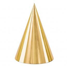 Set 6 coifuri aurii 17 cm