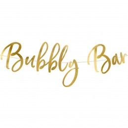 Banner Bubbly Bar Auriu