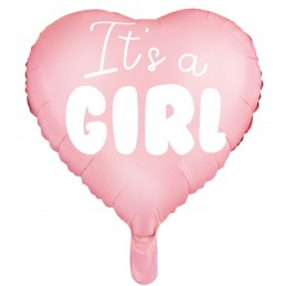 Balon inima roz IT'S A GIRL