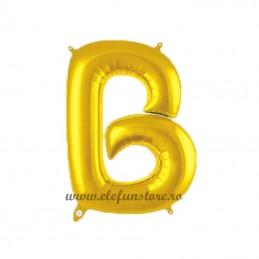 "Balon "" Litera B "" Shiny Gold Slim"