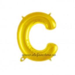 """Balon """" Litera C """" Shiny Gold Slim"""