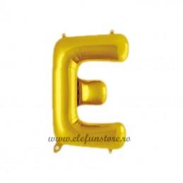 """Balon """" Litera E """" Shiny Gold Slim"""