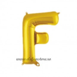 "Balon "" Litera F "" Shiny Gold Slim"