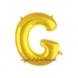 """Balon """" Litera G """" Shiny Gold Slim"""
