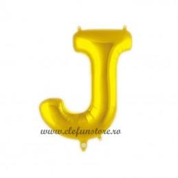 "Balon "" Litera J "" Shiny Gold Slim"