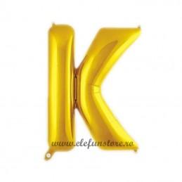 """Balon """" Litera K """" Shiny Gold Slim"""