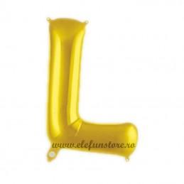 "Balon "" Litera L "" Shiny Gold Slim"