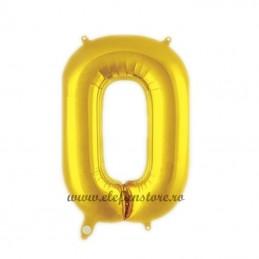 "Balon "" Litera O "" Shiny Gold Slim"