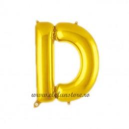"Balon "" Litera D "" Shiny Gold Slim"