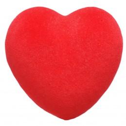 Inima 3D catifelata rosie...