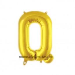 """Balon """" Litera Q """" Shiny Gold Slim"""