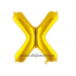 "Balon "" Litera X "" Shiny Gold Slim"