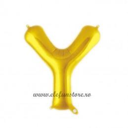 """Balon """" Litera Y """" Shiny Gold Slim"""