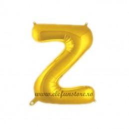 """Balon """" Litera Z """" Shiny Gold Slim"""