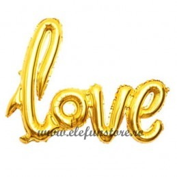 "Balon Scris ""LOVE"" Gold 126cm"