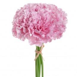 Set 6 fire garoafe roz 23 cm