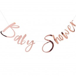 Banner Baby Shower rose gold