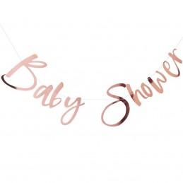 Banner Baby Shower rose gold