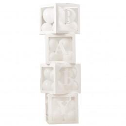 Set 4 cuburi BABY albe 30...