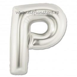 """Balon """"Litera P"""" Silver"""