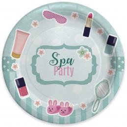 Set 8 farfurii Spa Party 18cm