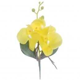 Orhidee galbena cu frunze,...