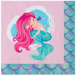 Set 20 servetele fetita sirena