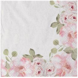 Set 20 servetele Blush Flowers