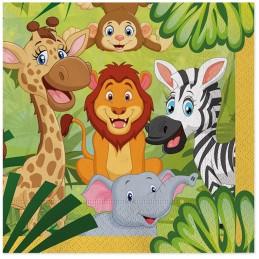 Set 20 servetele Jungle Party