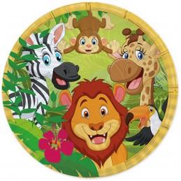 Set 8 farfurii Jungle Party...