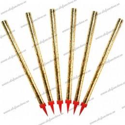 Set 6 Artificii Aurii pentru tort 30 cm
