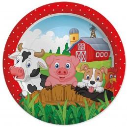 Set 8 farfurii Farm Party 18cm