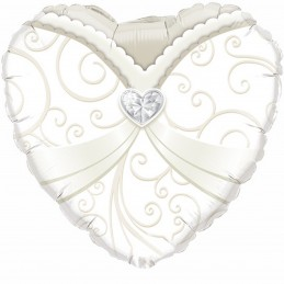 Balon inima rochie mireasa