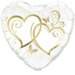 Balon inima golden hearts 45cm