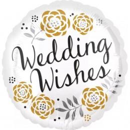 Balon rotund Wedding Wishes...