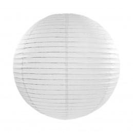 Lampion rotund alb 25 cm