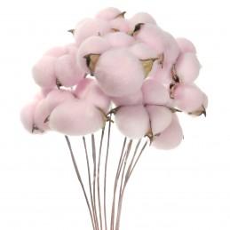 Set 10 Flori de Bumbac Roz...