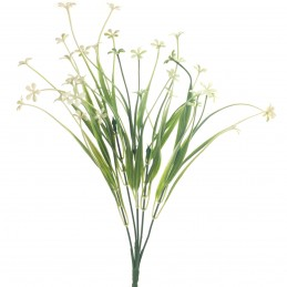 Buchet 40 floricele albe, 5...