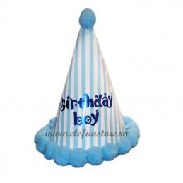 Coif Birthday Boy bleu cu dungi
