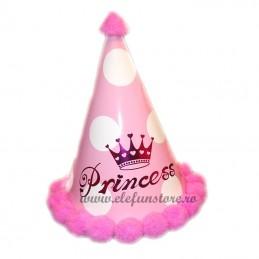 Coif Princess roz cu buline mari