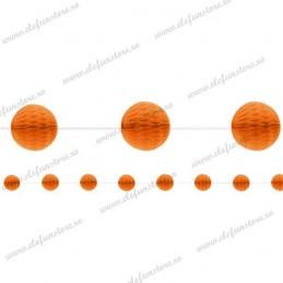 Ghirlanda cu Globuri (Faguri Portocalii) 3m