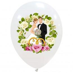 Set 10 baloane albe Wedding...