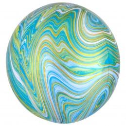 Balon Sfera 3D Marble Verde...