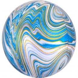 Balon Sfera 3D Marble Bleu...