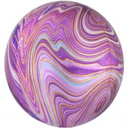 Balon Sfera 3D Marble Mov 60cm