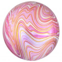 Balon Sfera 3D Marble Roz 60cm